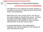 central tendency for skewed distributions