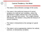central tendency the mean