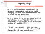 computing an iqv