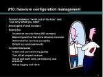 10 insecure configuration management