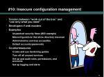 10 insecure configuration management48