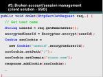 3 broken account session management client solution sso