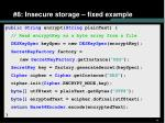 8 insecure storage fixed example