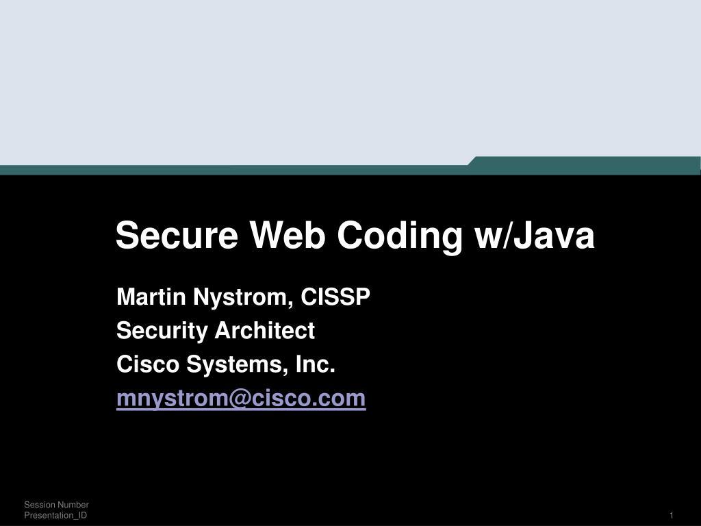 secure web coding w java