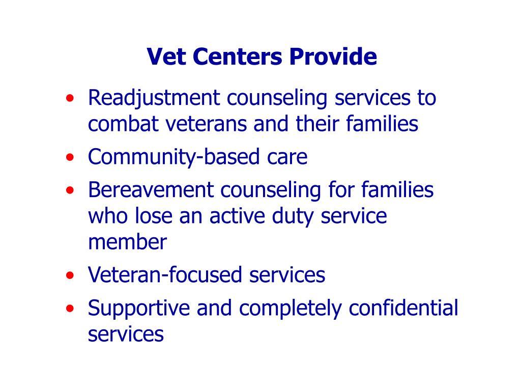 Vet Centers Provide