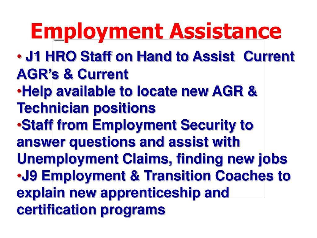 Employment Assistance