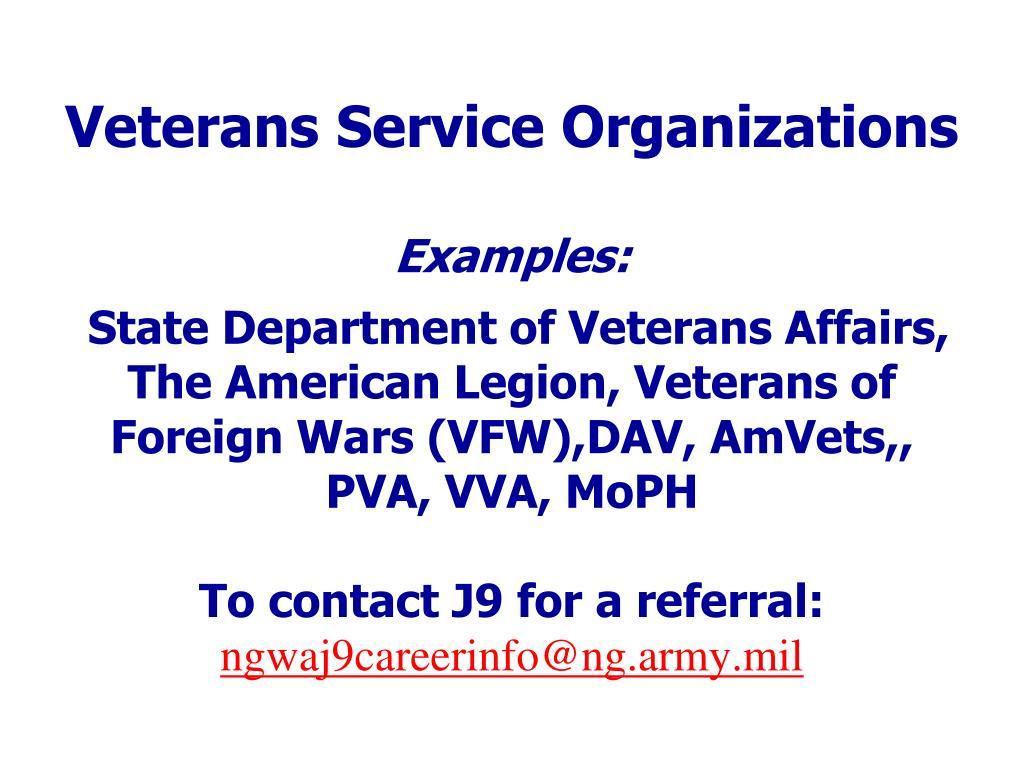 Veterans Service Organizations