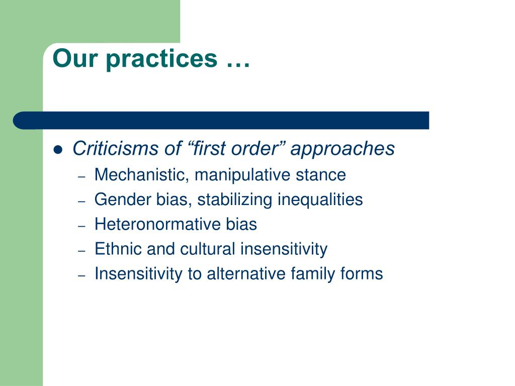 Our practices …