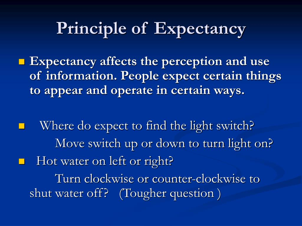 Principle of Expectancy