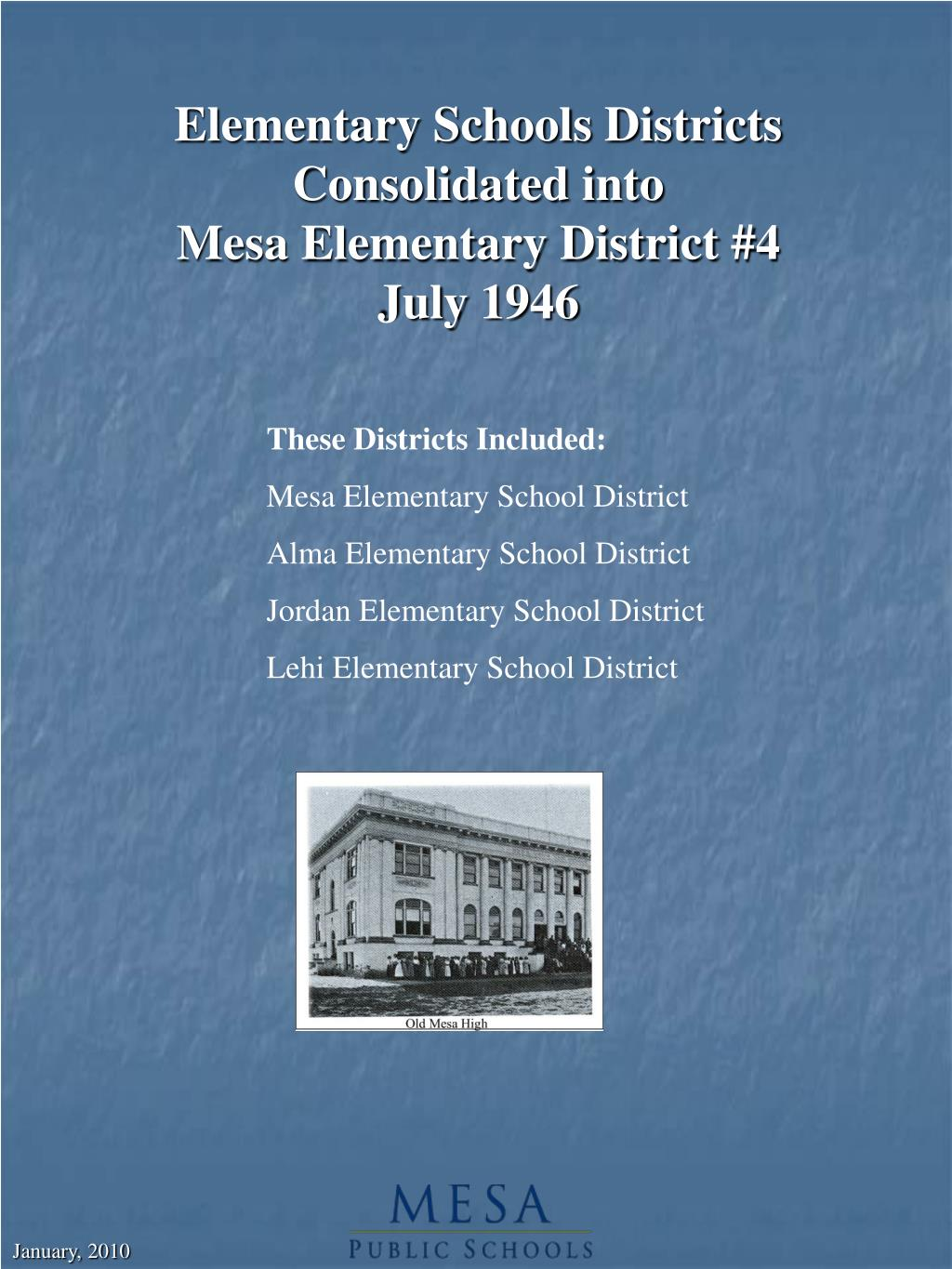 Elementary Schools Districts