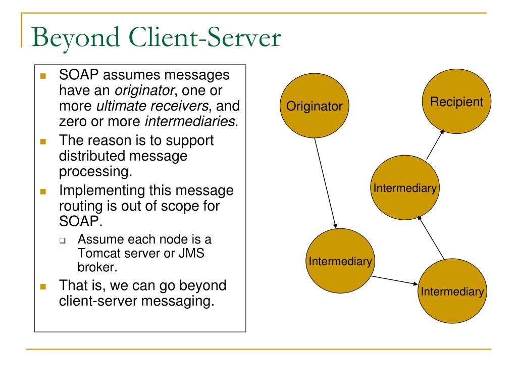 Beyond Client-Server