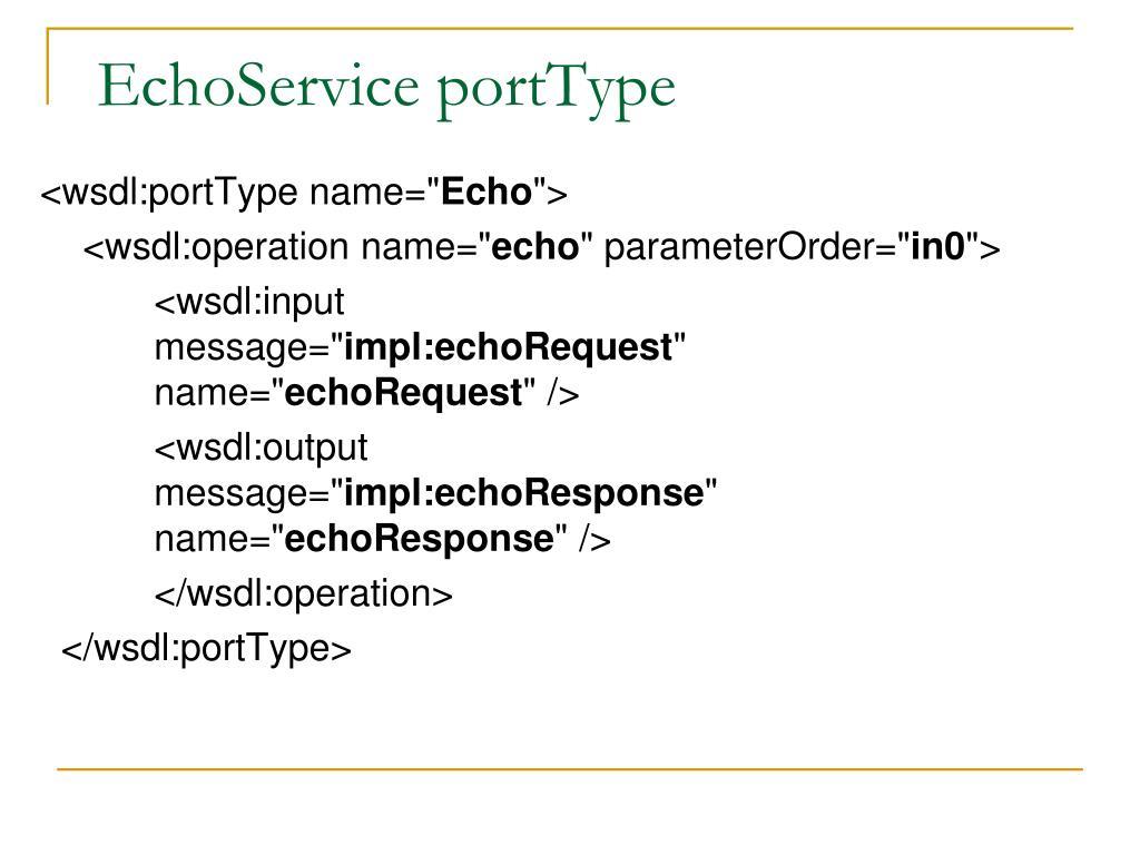 EchoService portType
