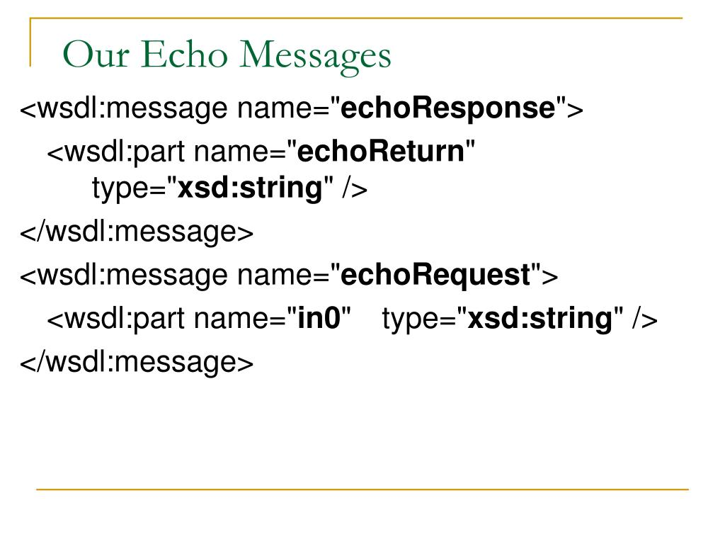 Our Echo Messages
