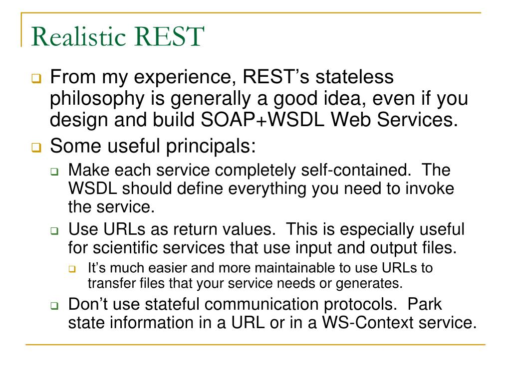 Realistic REST