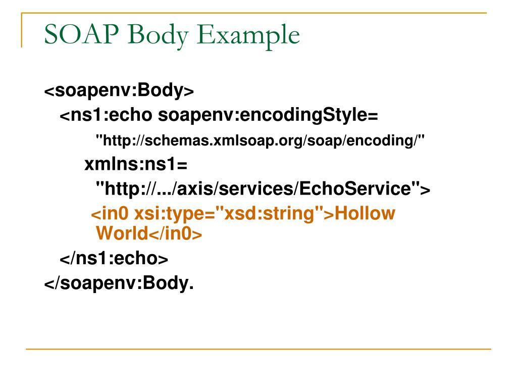 SOAP Body Example
