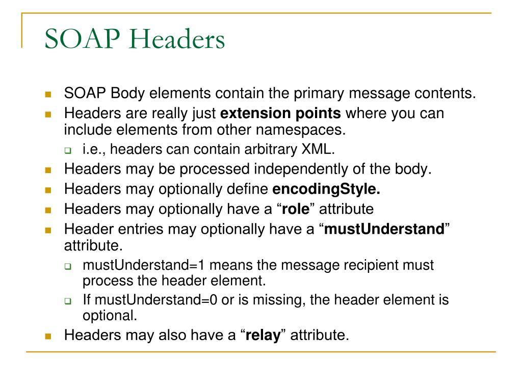 SOAP Headers