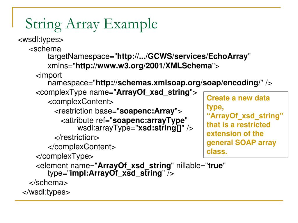 String Array Example