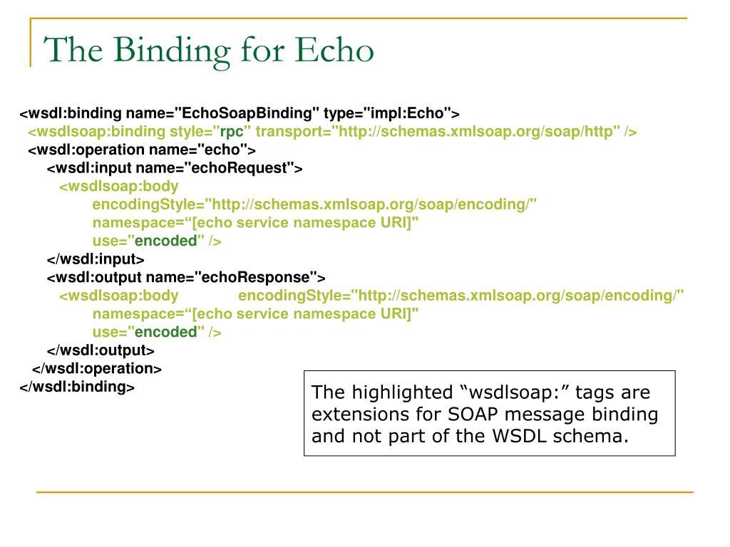 The Binding for Echo