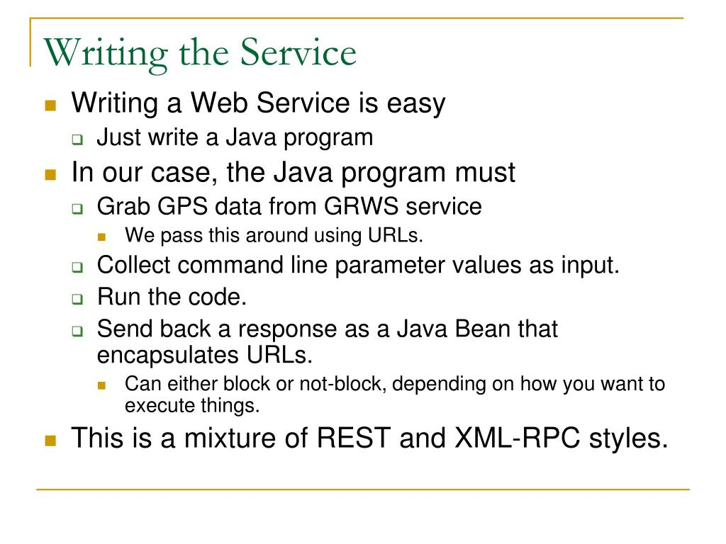 Writing the Service