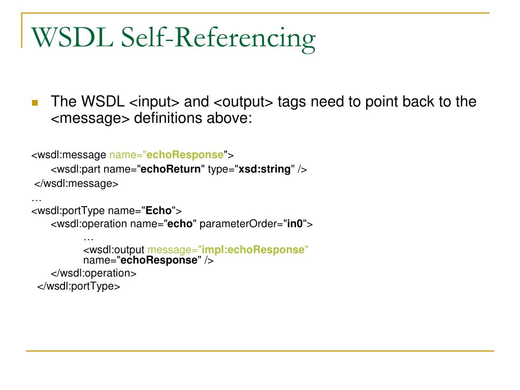 WSDL Self-Referencing