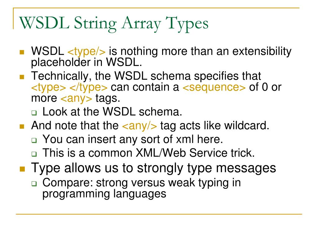 WSDL String Array Types