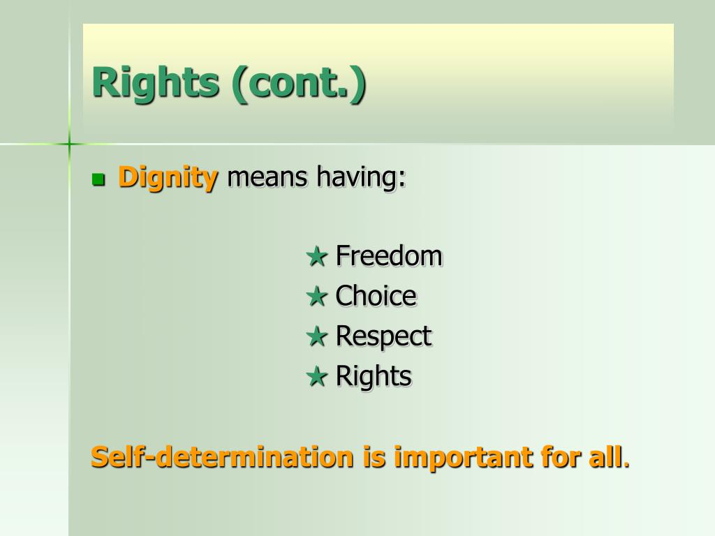 Rights (cont.)