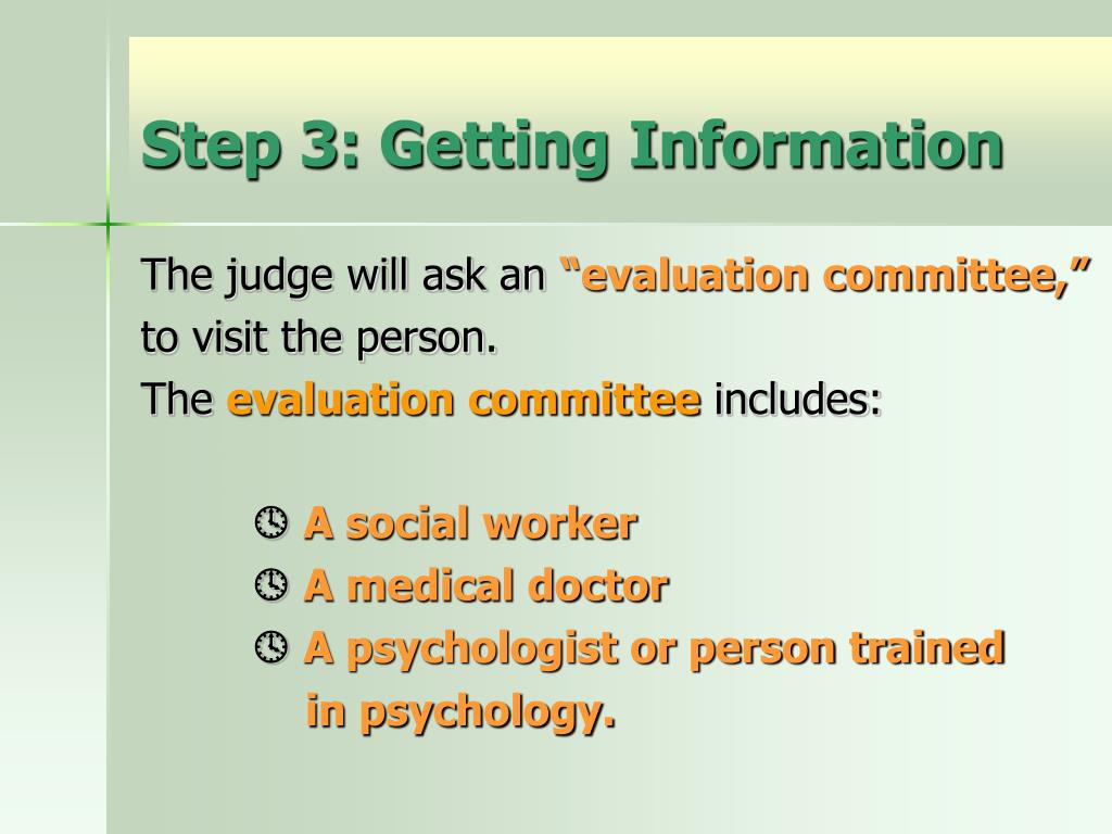 Step 3: Getting Information