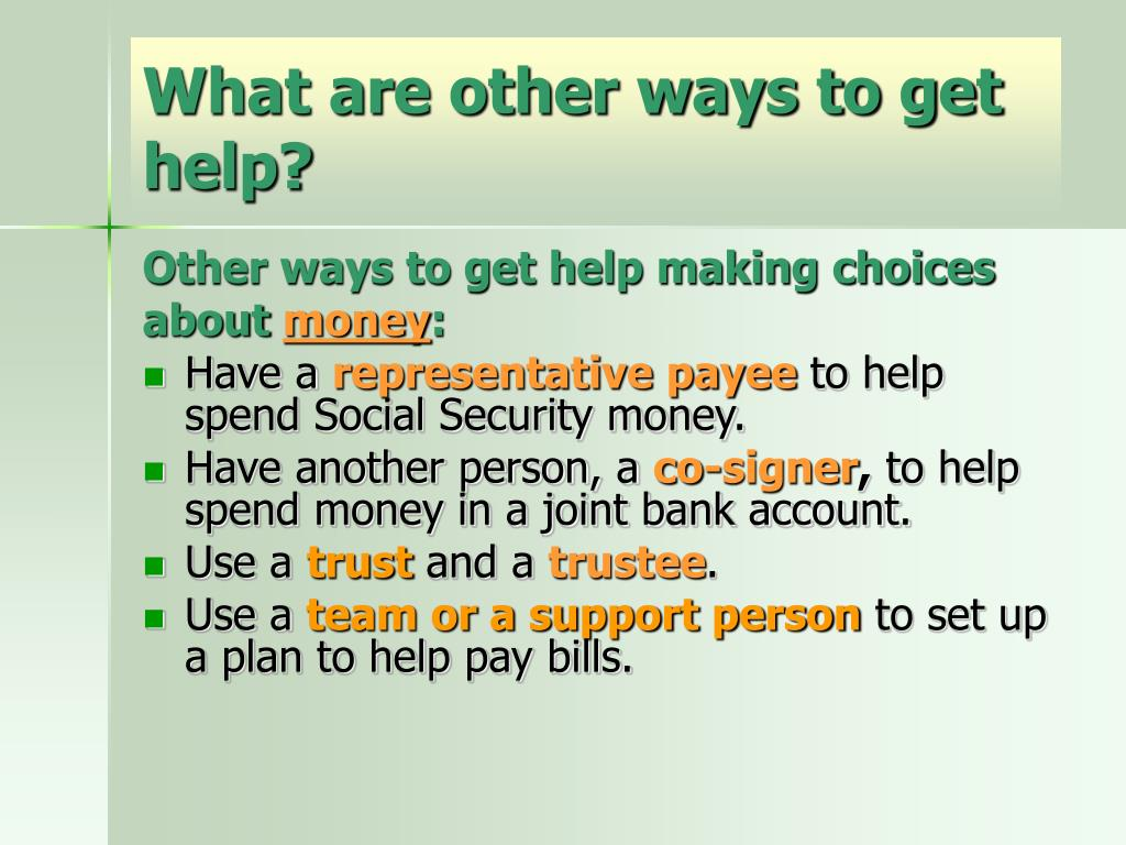 What are other ways to get help?