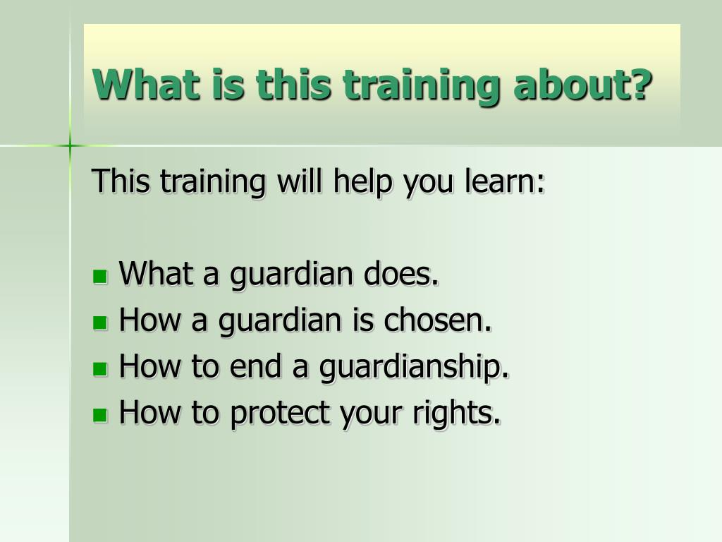 What is this training about?