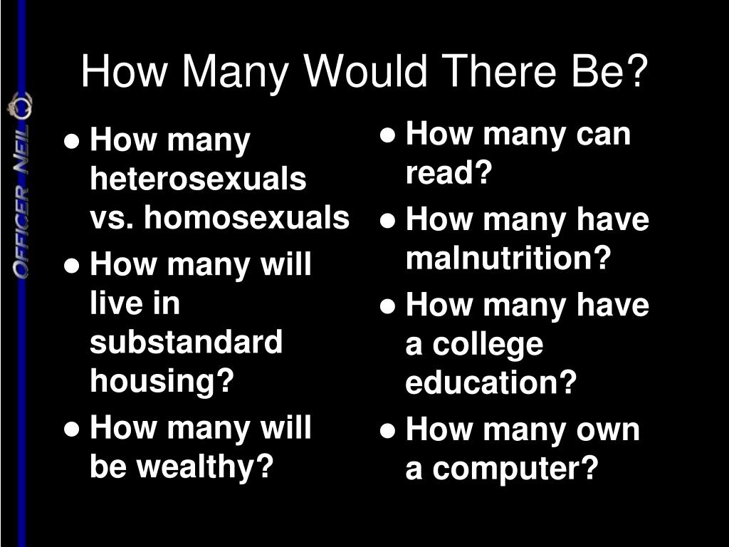 How Many Would There Be?