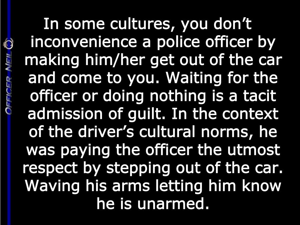 In some cultures, you don't inconvenience a police officer by making him/her get out of the car and come to you. Waiting for the officer or doing nothing is a tacit admission of guilt. In the context of the driver's cultural norms, he was paying the officer the utmost respect by stepping out of the car.  Waving his arms letting him know he is unarmed.