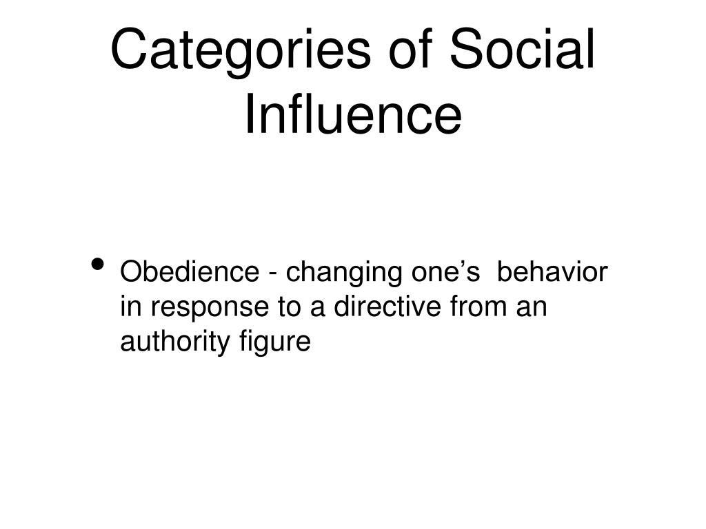 Categories of Social Influence