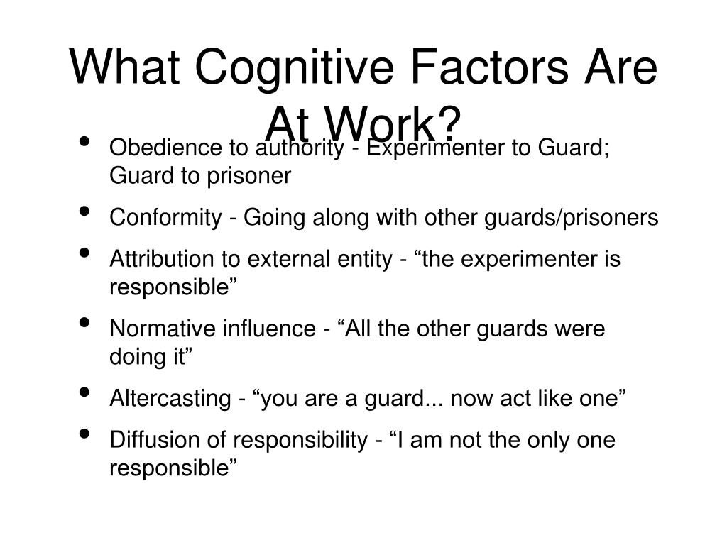 What Cognitive Factors Are At Work?