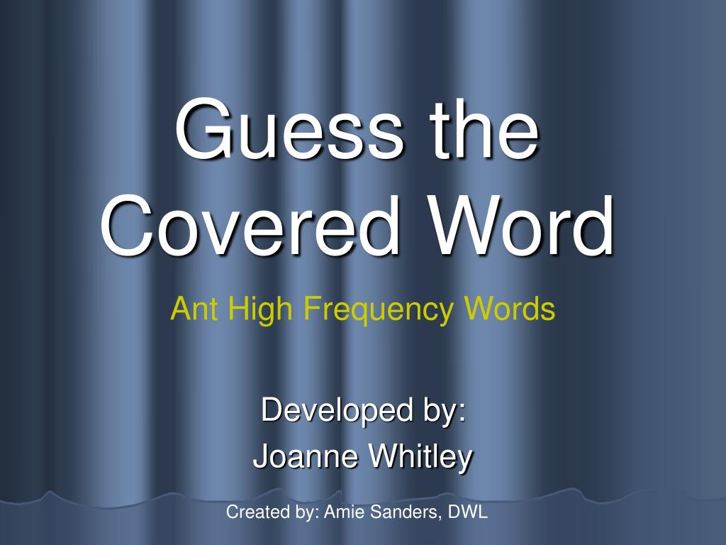guess the covered word l.