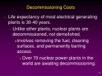 decommissioning costs