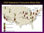 doe radioactive transuranic waste sites
