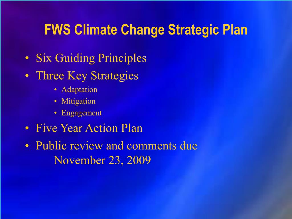 FWS Climate Change Strategic Plan