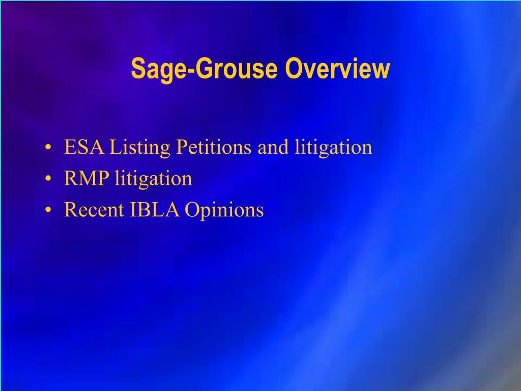 Sage-Grouse Overview