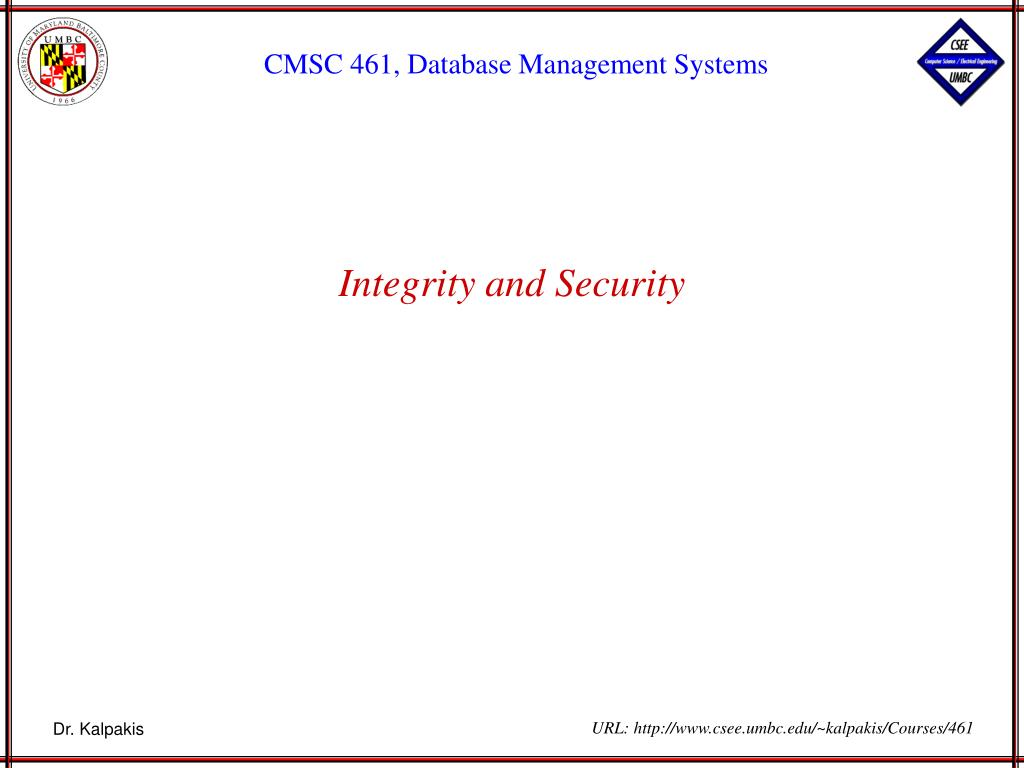 integrity and security