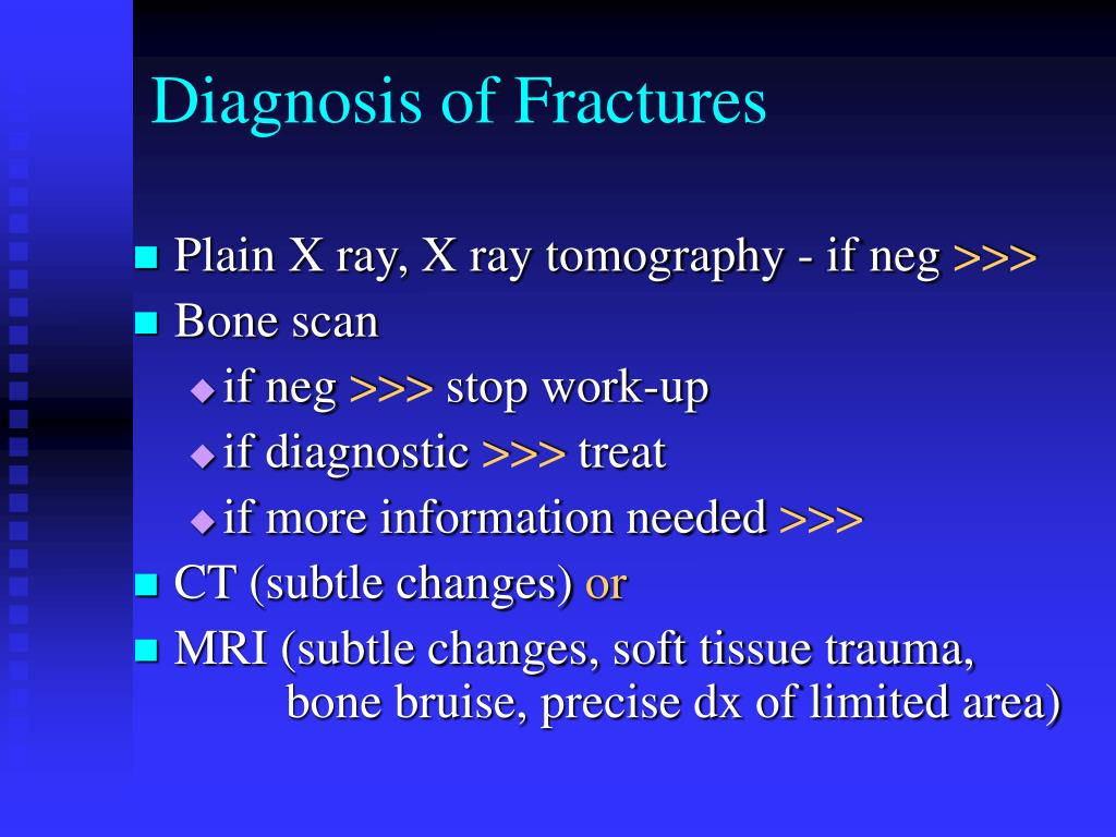 Diagnosis of Fractures