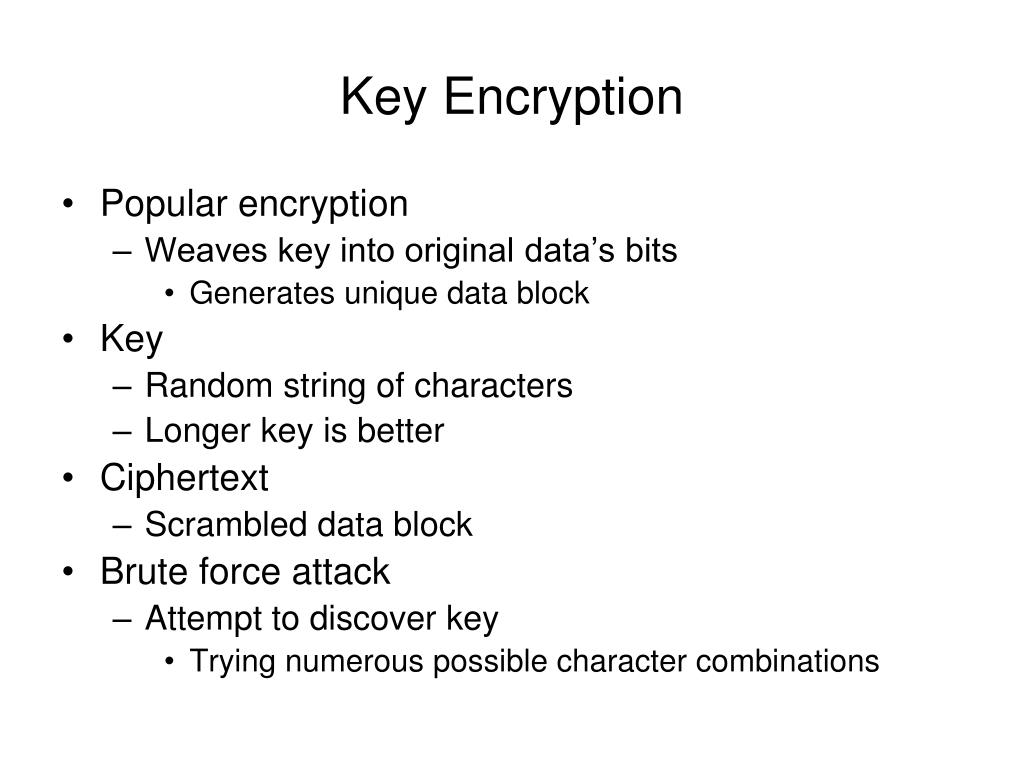 Key Encryption