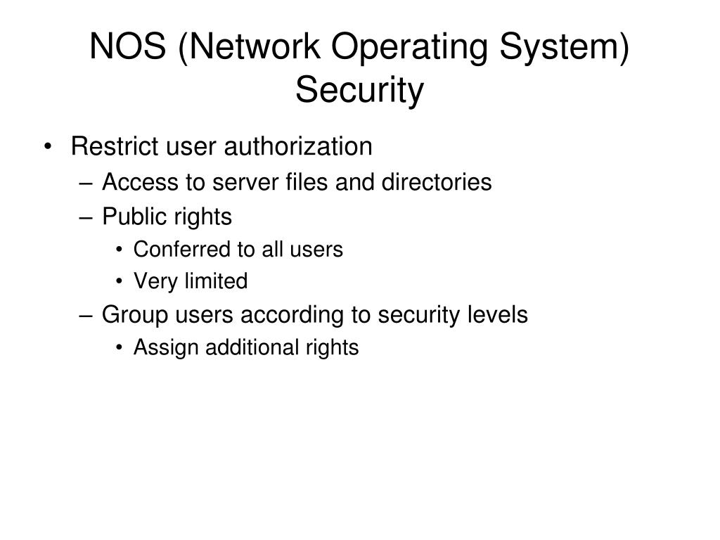 NOS (Network Operating System) Security