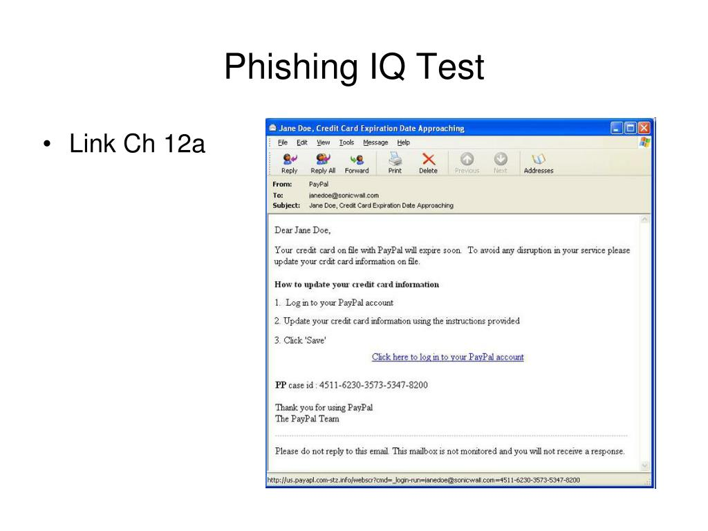 Phishing IQ Test