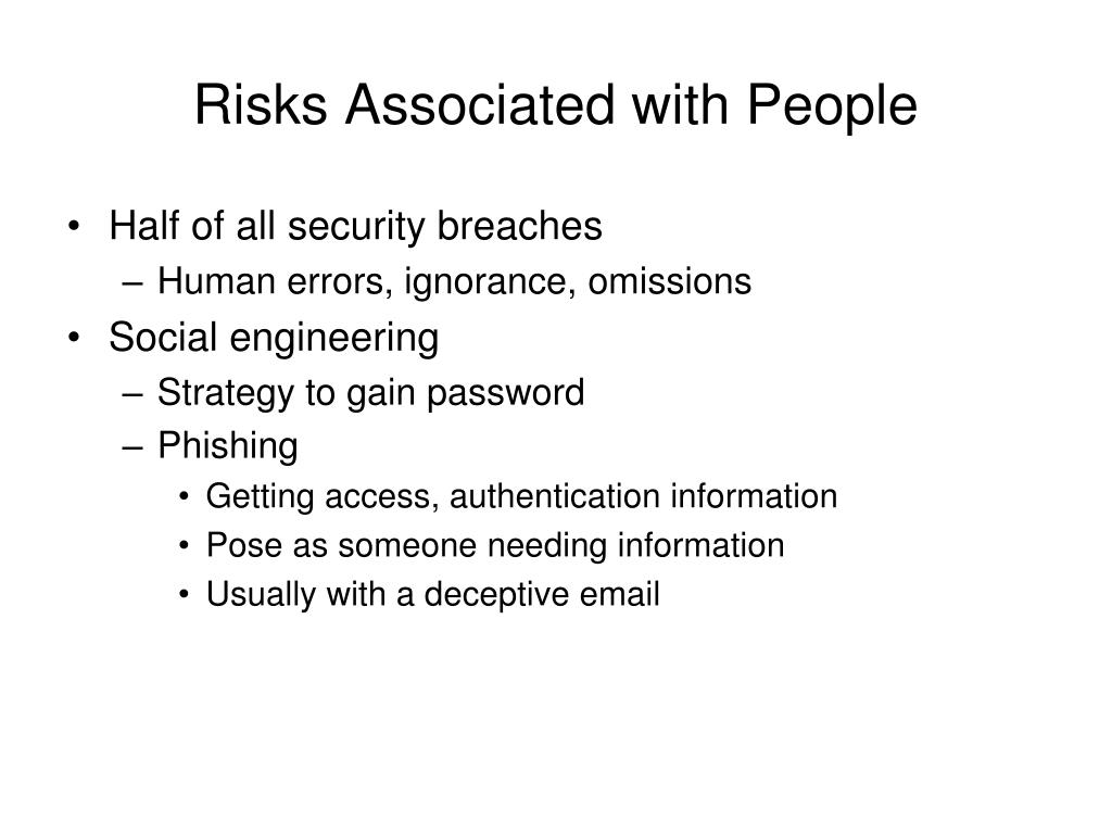 Risks Associated with People