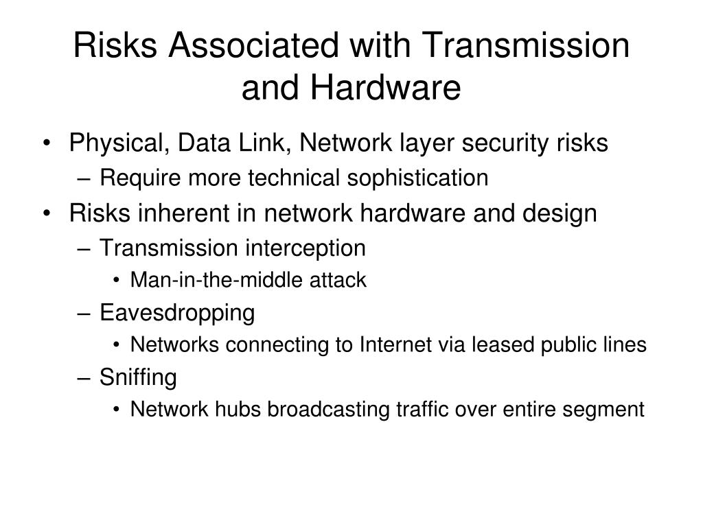 Risks Associated with Transmission and Hardware