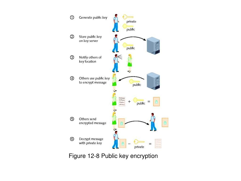 Figure 12-8 Public key encryption