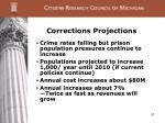 corrections projections