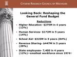 looking back reshaping the general fund budget