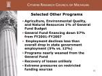 selected other programs