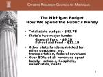 the michigan budget how we spend the public s money